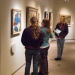Students viewing 20th century American Art, Photo by Gary Graham