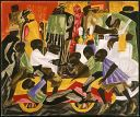 Jacob Lawrence, Summer Street Scene in Harlem