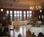 Wedding setup in Bausch & Lomb Parlor