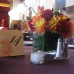 Place setting for an event in the M&T Ballroom