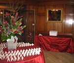 Wedding setup in the Bausch & Lomb Parlor