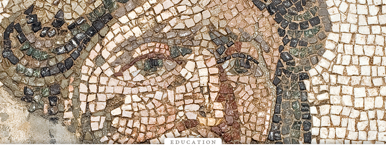 detail of Mosaic Floor Panel with Head of Tethys, 3rd century, Antioch