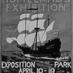 Poster by public school students, 1920, for the Homelands Exhibition