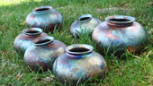 raku vases by paul harp