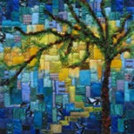 Summer Breezes, by 2006 Rochester Biennial artist Carol Taylor, was inspired by Tiffany Studio's Sunset Scene.