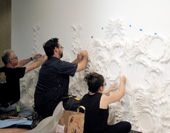 Nick Kozak and assistants installing Ecosystem