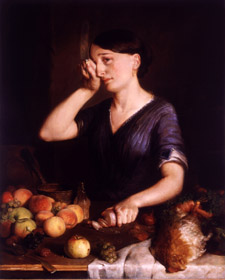 """Peeling Onions"" by Lilly Martin Spencer"