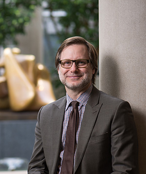 University of Rochester Memorial Art Gallery Director Jonathan Binstock in the Vanden Brul Pavilion March 2, 2015 // photo by J. Adam Fenster / University of Rochester