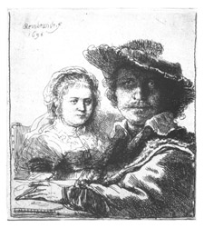 Rembrandt self portrait from the Mower Collection