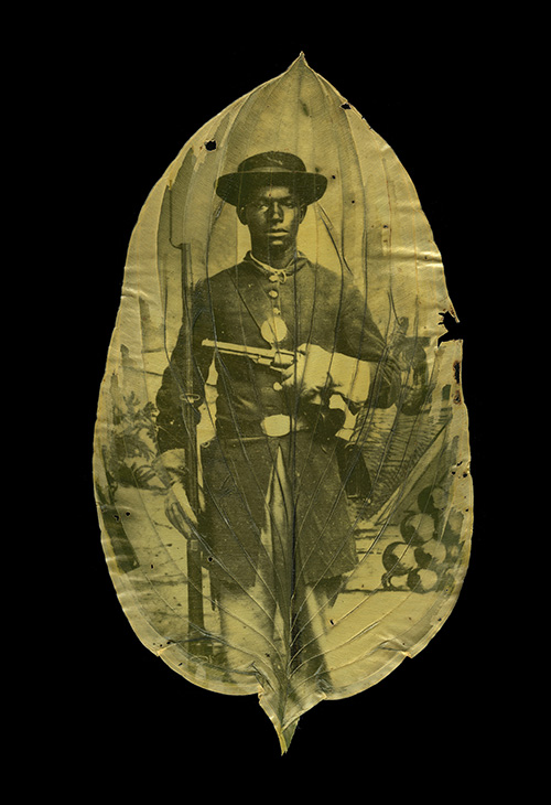 Unknown African American Soldier with Cannon