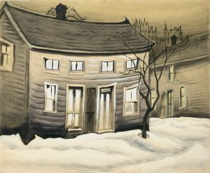 Cat-Eyed House by Charles Burchfield