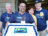 Birthday celebration for Bill Barry at Clothesline 2011