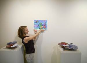 Faith Gruber in the Lucy Burne Gallery in the Creative Workshop