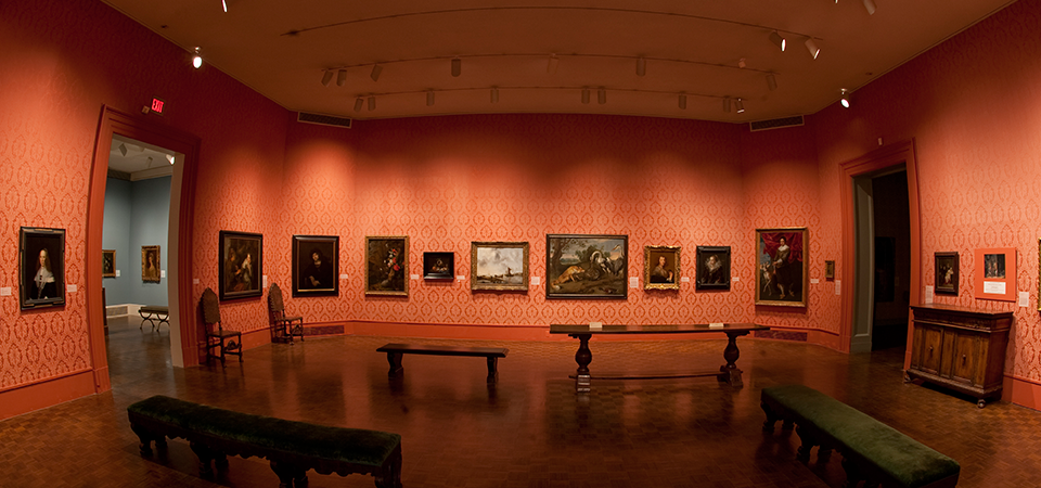 View of 17th-century European gallery