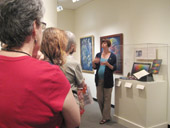 Assistant curator Jessica Marten leads a walkthrough of the exhibition.