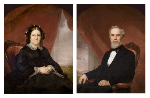 Mary and Gideon Burbank portraits from the 1860s