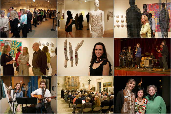 images from fiberart international opening