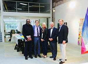 Sam Gilliam, Jonathan Binstock and MAG representatives