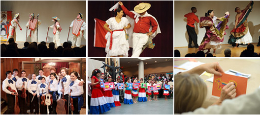photos of performers at 2010 hispanic heritage day