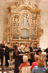 inaugural concert on the Italian Baroque organ in October 2005