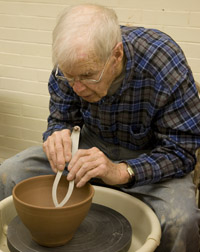 lang clay in the ceramics studio 2010
