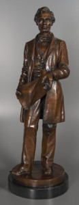 bronze sculpture of abraham lincoln