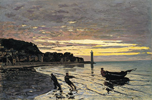 Monet's Towing a Boat, Honfleur