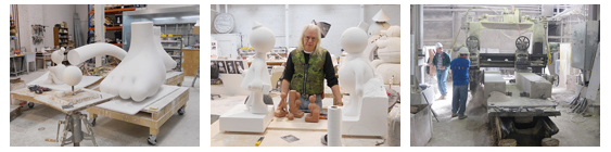 curator visits to tom otterness studio and limestone quarry
