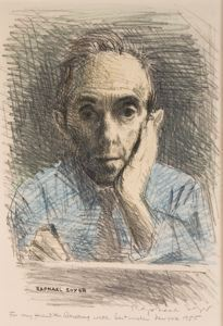 Raphael Soyer self portrait 1954