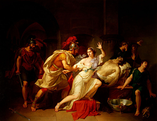 Cleopatra Captured by Roman Soldiers after the Death of Mark Antony