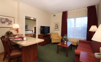 guest room at homewood suites henrietta