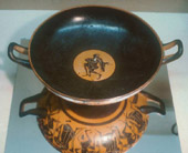 Greek Kylix with Scenes of Warriors in Battle from 6th century BCE