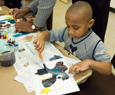 art activities at Black History Month Family Day
