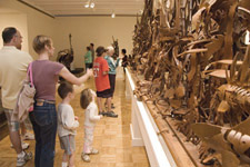families visiting Albert Paley exhibition