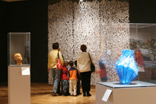 visitors to Extreme Materials exhibitions