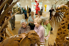 visitors to Albert Paley exhibition