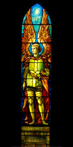 Tiffany stained glass angel