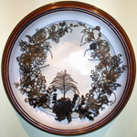 Victorian hair-wreath in shadow box.  Courtesy Everhart Museum, Scranton, PA.