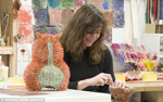 Jennifer Maestre in her studio.  Courtesy Masons News Service
