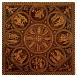Traditional Italian wood marquetry