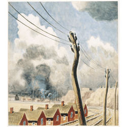Telegraph Pole by Charles Ephraim Burchfield