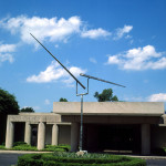 George Rickey American, 1907 - 2002  Two Lines Up Excentric - Twelve Feet, 1994 American Sculpture Stainless steel 231 15/16 in. x 266 in. (589.2 cm x 675.64 cm), maximum  Gift of Richard F. Brush,  94.44  Currently on View