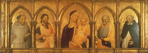 Madonna and Child with Saints Francis of Assisi, John the Baptist, Peter and Dominic