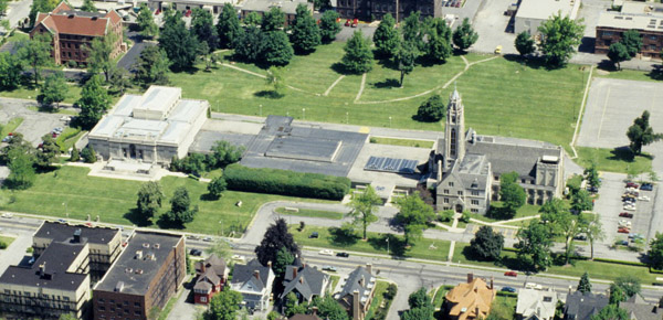 aerial view of the Memorial Art Gallery, 1996