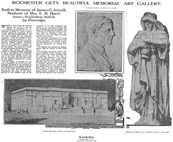 1913 New York Times article on Memorial Art Gallery opening