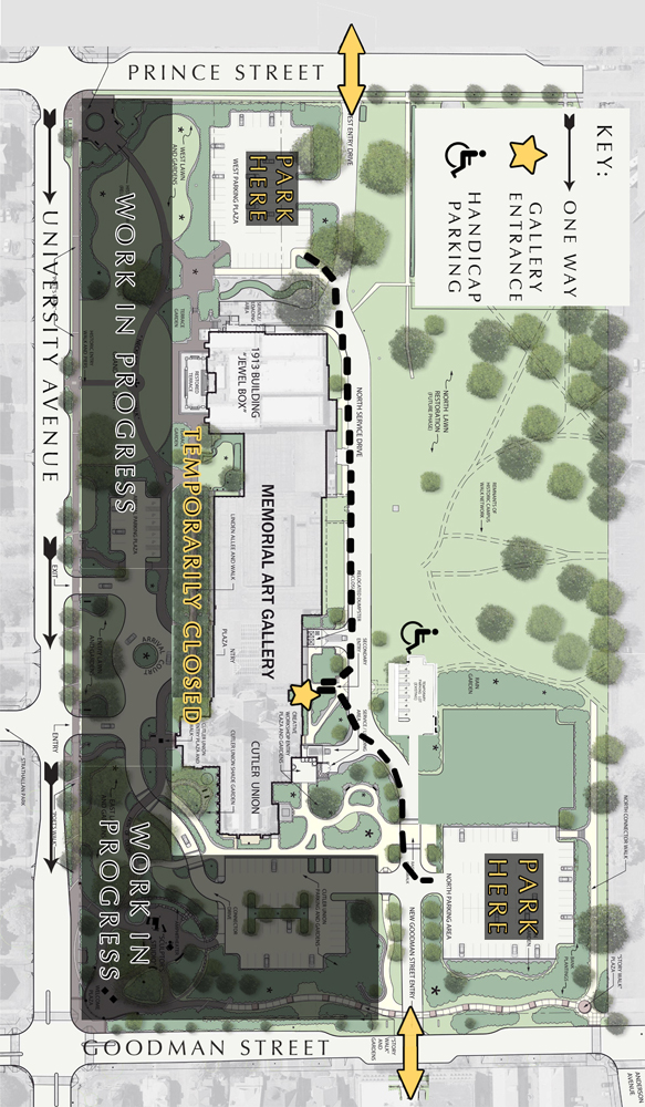 Rendered Constriction Site Plan - Centennial Sculpture Park