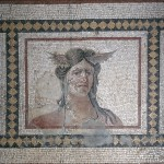 Mosaic Floor Panel with Head of Tethys