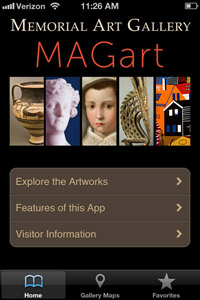 magart app welcome screen