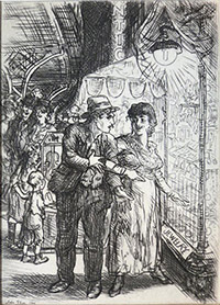 etching by John Sloan