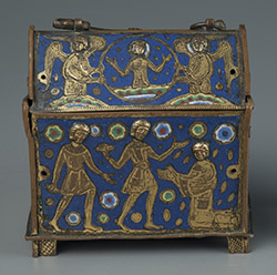 medieval French caisse of enamel and copper